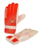 Arsenal Kids Goalie Gloves, Red/White
