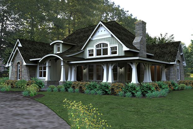 Craftsman Style House Plan - 3 Beds 3 Baths 2267 Sq/Ft Plan #120-181 Front Elevation - Houseplans.com