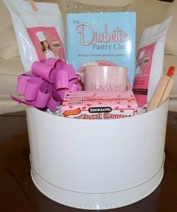 The ultimate gift for the diabetic (or dieter) in your life is a gift basket from The Diabetic Pastry Chef. <3