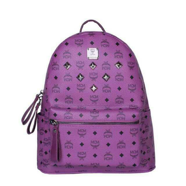 Mcm Medium Stark Six Studded Backpack In Purple Backpacks Outlet 2018 Pinterest And Bags