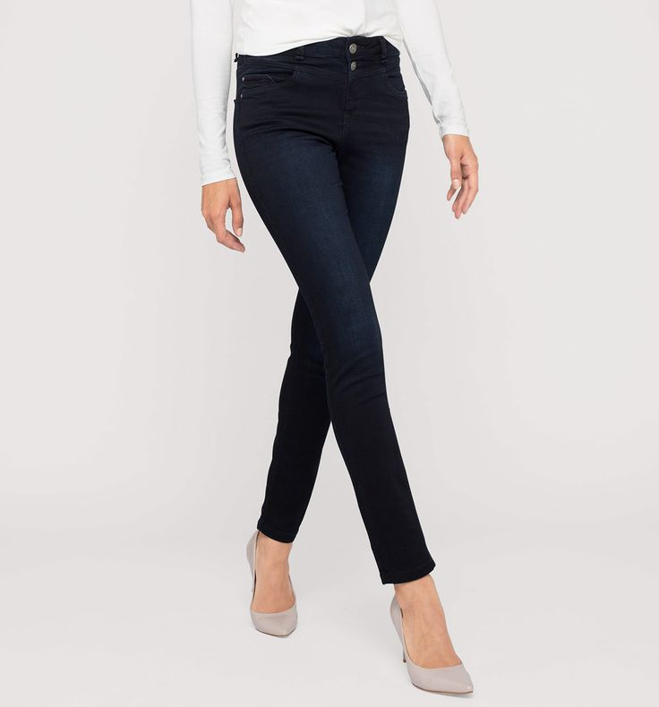 THE SKINNY in jeansdonkerblauw