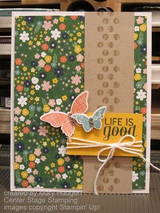 Kinda Eclectic 2014 Convention Display Sample by Mary Haugen - Center Stage Stamping
