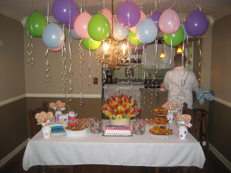 Balloons hanging from ceiling baby and more pinterest for Balloon ceiling decoration