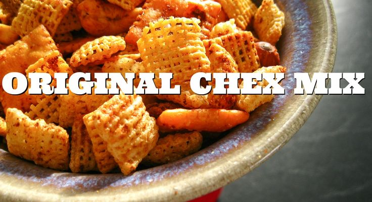 Original Chex Mix Recipe. From the 70s. #chexmix #classic #recipes
