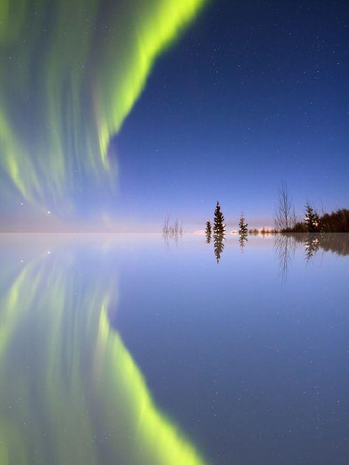 Aurora Mirrored, Trapper Creek, Alaska, United States