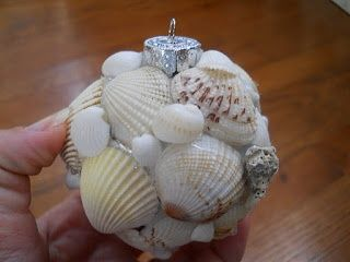 christmas seashell crafts | TUTORIAL Seashell Christmas Ornament ~ | Beach crafts and Decor