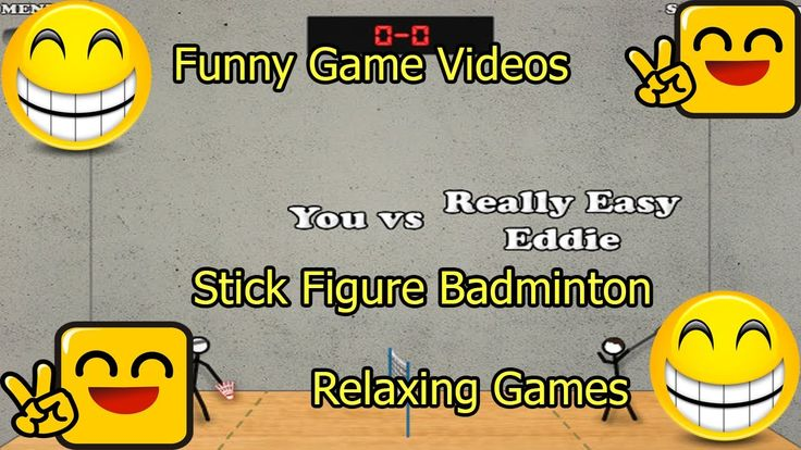 Funny Game Videos   Relaxing Games   Stick Figure Badminton # 6