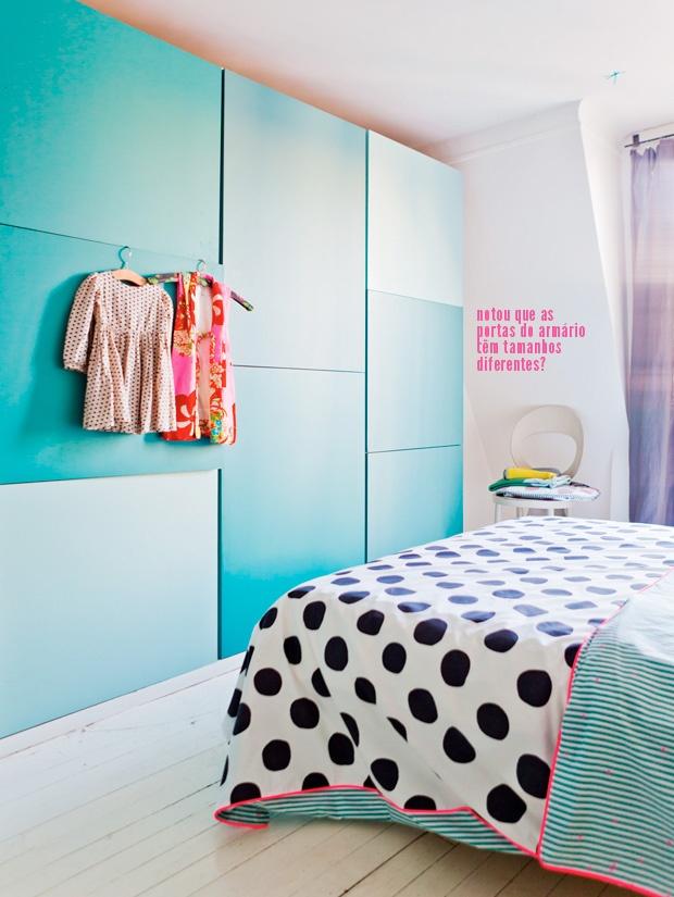 blue cabinet + polka dots #decor