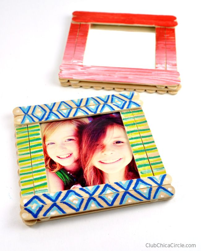 Photo Frame Crafts. Diy Frame Made With Party With Amy Locurto From ...