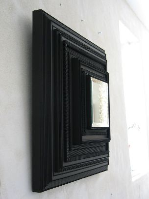 Carton noir miroirs exclusive objects mirrors frames for Miroir concave convexe