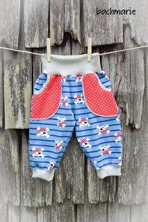 Freebook Basicutpants Kinderhose, Pumphose Größe 34 - 134