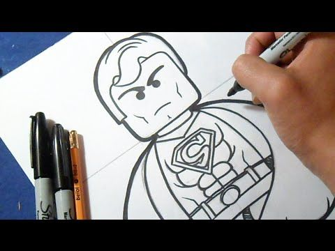 "Cómo dibujar a Superman ""LEGO"" 