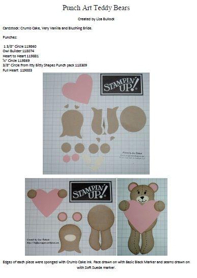 #punchart using SU punches: owl, heart, circles visit me at http://stampingwithbibiana.blogspot.com/