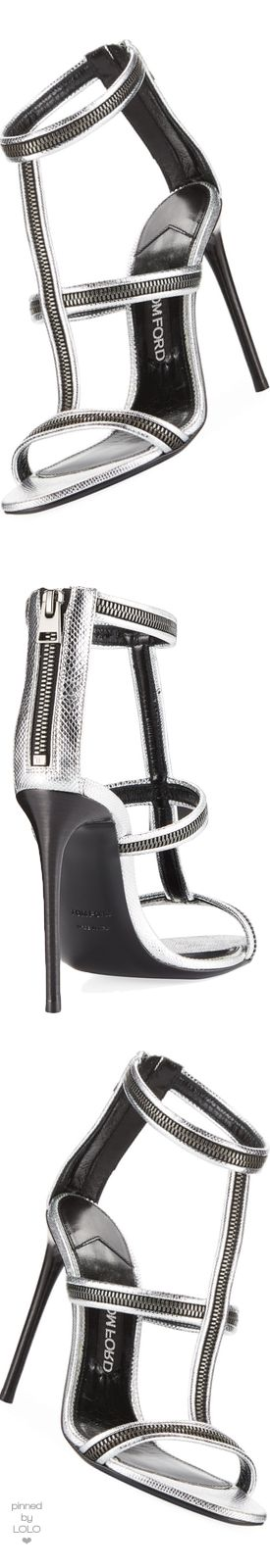 TOM FORD Zipper Caged 105mm Sandal