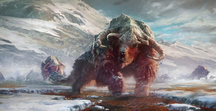 Creatures of the North, Morten Solgaard Pedersen on ArtStation at https://www.artstation.com/artwork/xeQPO