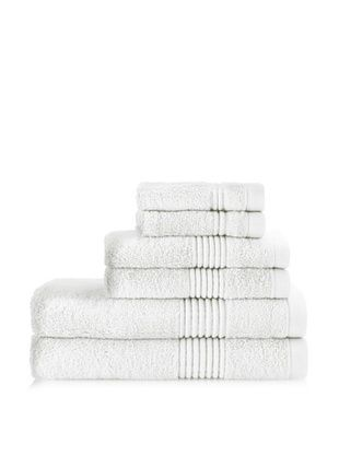 61% OFF Chortex Ultimate 6-Piece Towel Set, White