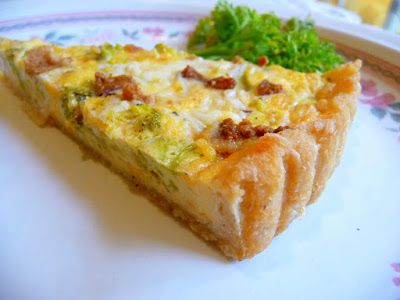 SPLENDID LOW-CARBING BY JENNIFER ELOFF: TWO-CHEESE BROCCOLI QUICHE