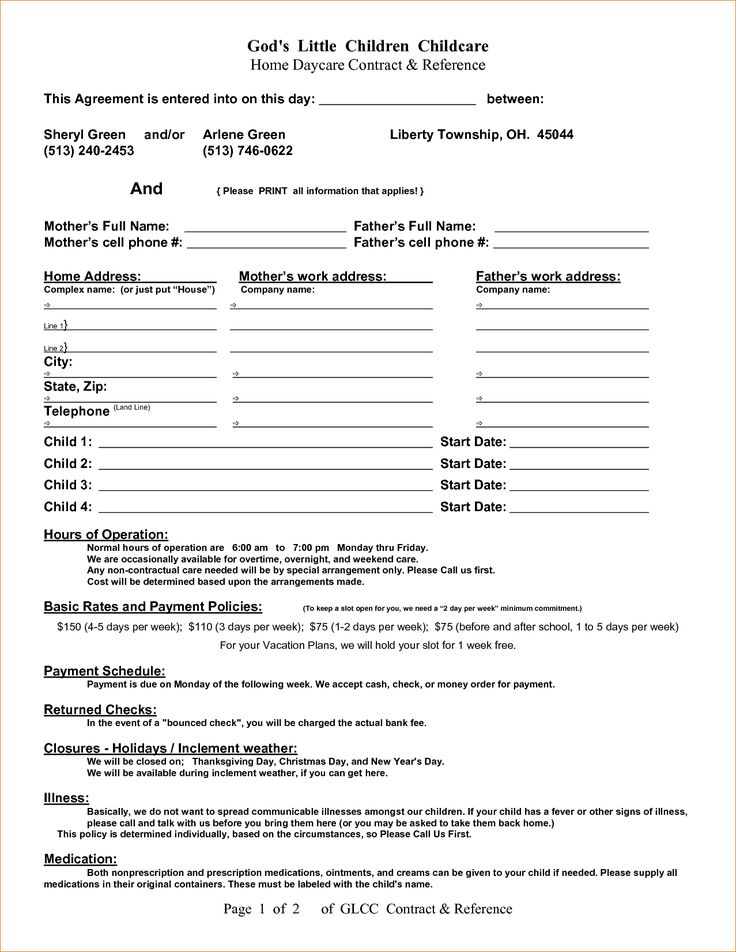 76 best Sarah images on Pinterest Daycare contract, Daycare ideas - medical release form sample