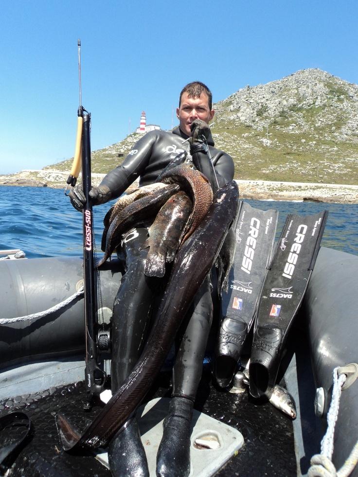 Harolf Dean Spearfishing in Vigo, Spain In preparation for