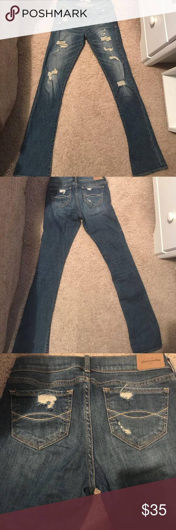 Abercrombie Girls jeans Super cute like me jeans.  I love these but my daughter had a growth spurt and maybe wore them once. abercrombie kids Bottoms Jeans