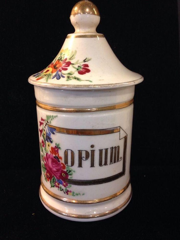 Antique Opium Apothecary Jar Bottle Heroin Vintage Quack