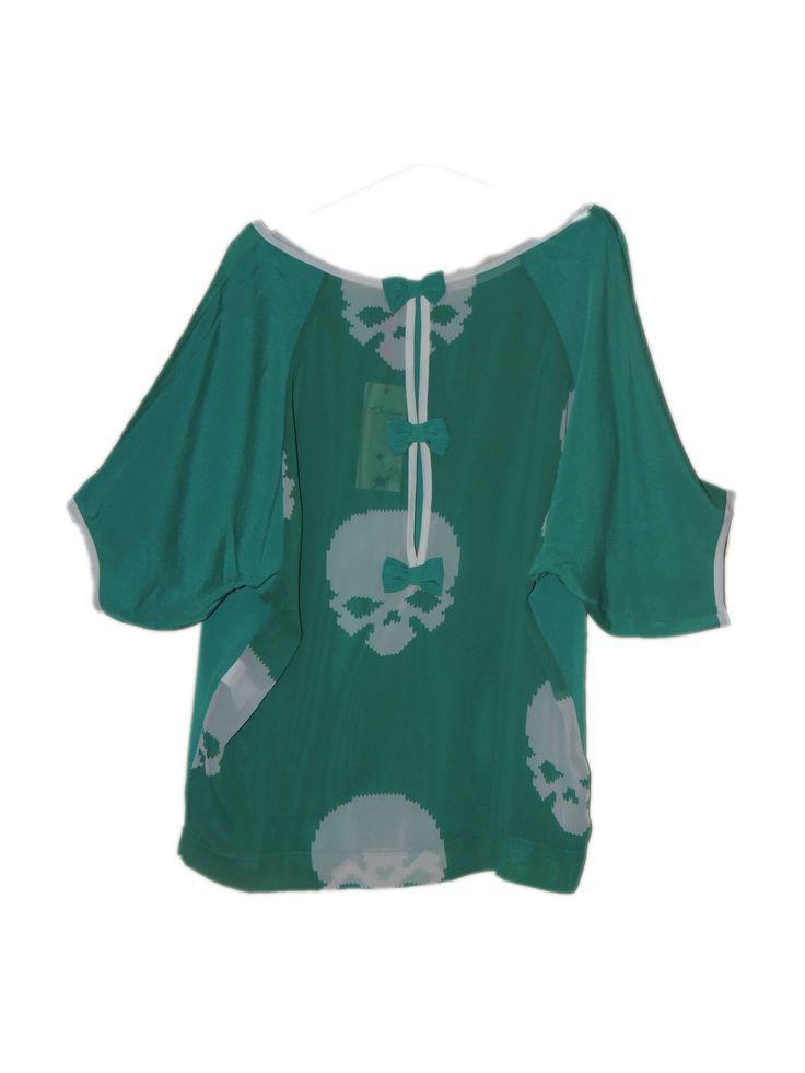 Büzgüsüz Kurukafalı Yeşil Tişört