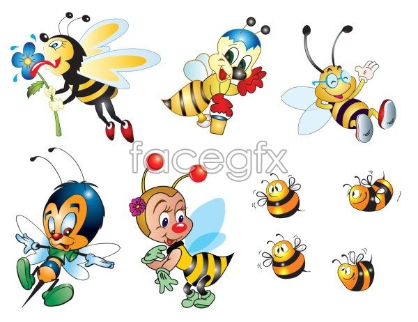 Bee cartoon vector worker bees pinterest cartoon and - Bumble bee pictures a colori ...