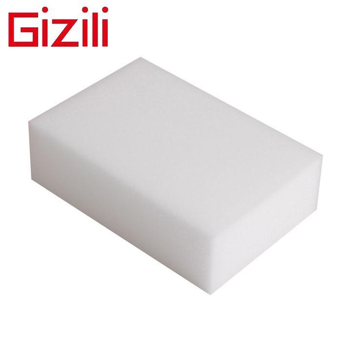 GIZILI 100 шт./лот чистый белый волшебная губка ластик, оптовая качество меламин губка для мытья посуды, кухня аксессуар 10*6*2 см купить на AliExpress