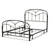 Pomona Complete Bed with Arched Metal Grills and Detailed Posts, Hazelnut Finish, Queen   Queen sized bed enhanced with casted posts and other different details to provide universal appeal Hazelnut finish and exotic-looking design resembles a trefoil arch of the Gothic era Carbon steel headboard...