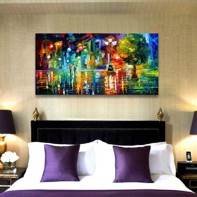 leonid-afremov-lanskap-abstrak-cetak-lukisan-kanvas-gambar-dinding-untuk-ruang-tamu-malam-kota-di-tengah