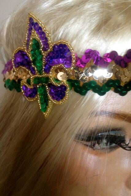 Hey, I found this really awesome Etsy listing at https://www.etsy.com/listing/179019632/mardi-gras-headband-with-choice-of-clip