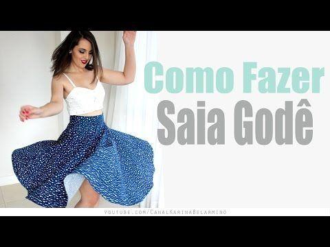 Como Fazer Saia Godê Midi | Karina Belarmino - YouTube