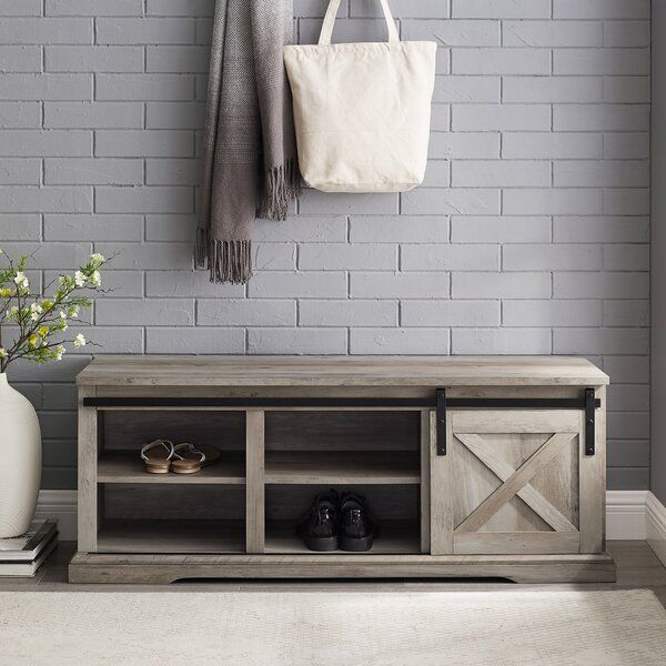 Laurel Foundry Modern Farmhouse Berene Shoe Storage Bench Reviews Wayfair In 2020 Bench With Shoe Storage Shoe Storage Storage Bench