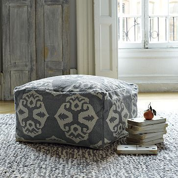 I love the Andalusia Dhurrie Pouf on westelm.com