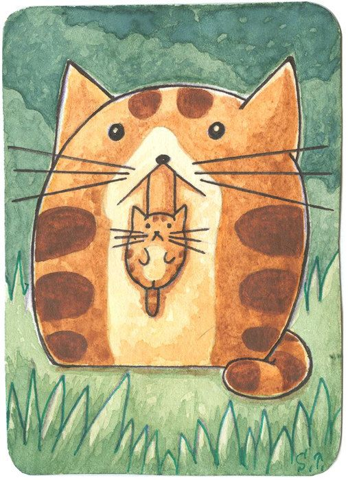 Hey, I found this really awesome Etsy listing at https://www.etsy.com/ru/listing/194469417/original-painting-aceo-atc-cat-kitten