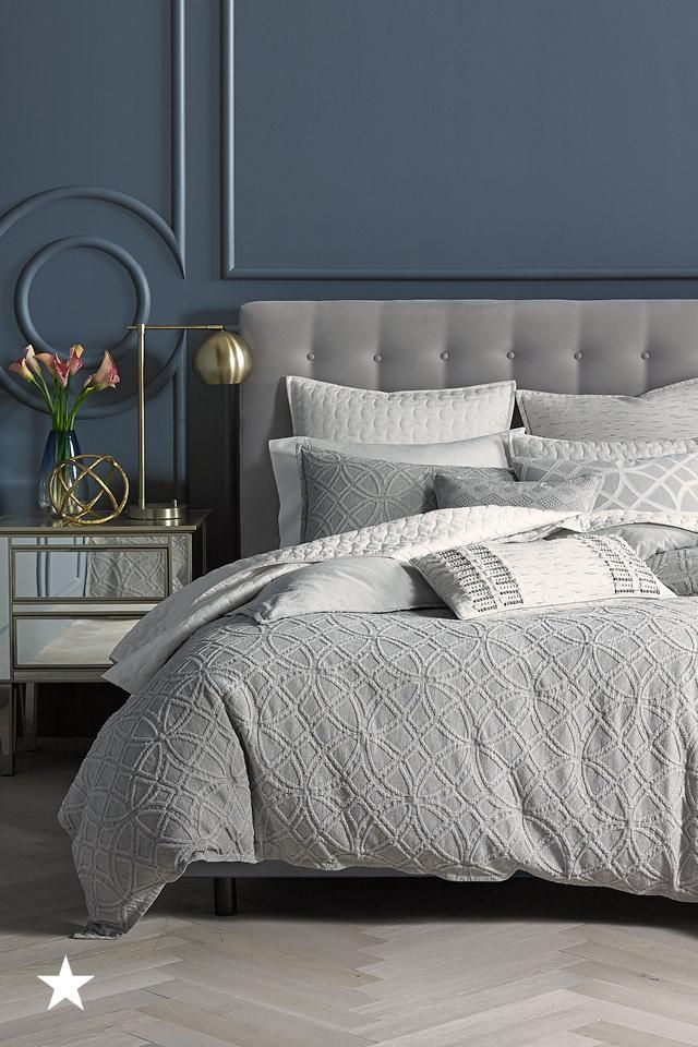 Go for chic and sophisticated when redecorating your room for the new year. The shades of charcoal gray in the Hotel Collection Connection bedset will be the finishing touch to your dream room. Available now at Macy's!