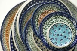 Bunzlau Castle pools aardewerk: Prachtige collectie borden.