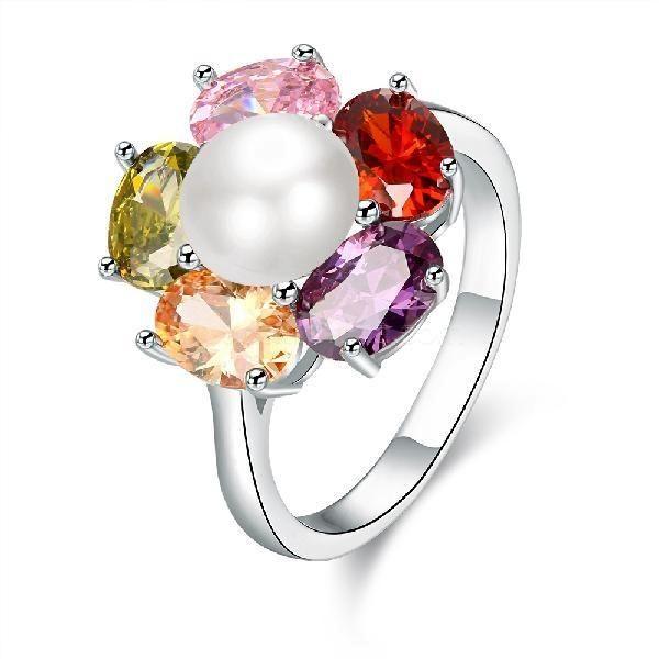 30% off! K Gold Zircon European American Fashionable Romantic Colorful Zircon Flower Rings #madeinchina #rings >http://dxurl.com/ReDm