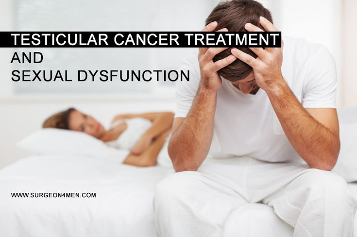 According to rough estimates, about 14 to 30% of testicular cancer patients have some degree of sexual dysfunction at the time of diagnosis.