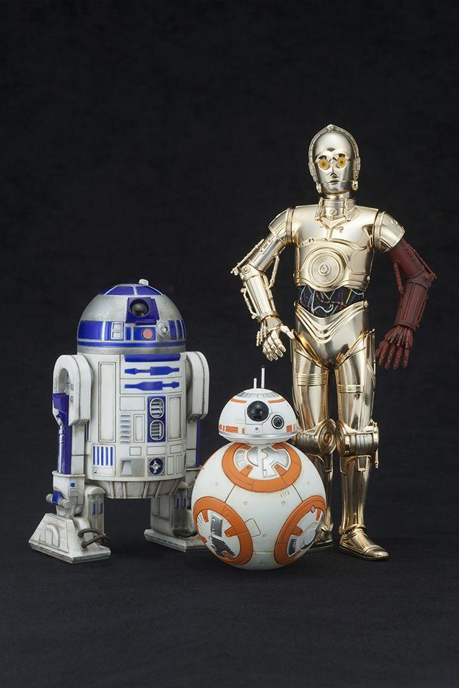 Figurines Star Wars - C-3PO & R2-D2 avec BB-8⎪Kotobukiya France