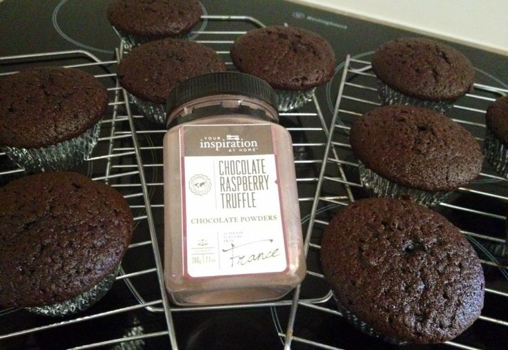 YIAH Choc raspberry truffle mud cake cup cakes ready to be iced for tomorrow lunch