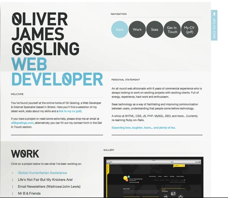 Awesome portfolio website