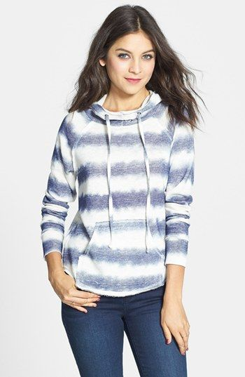 Love on a Hanger Stripe Cotton Hoodie (Juniors) (Online Only) available at #Nordstrom