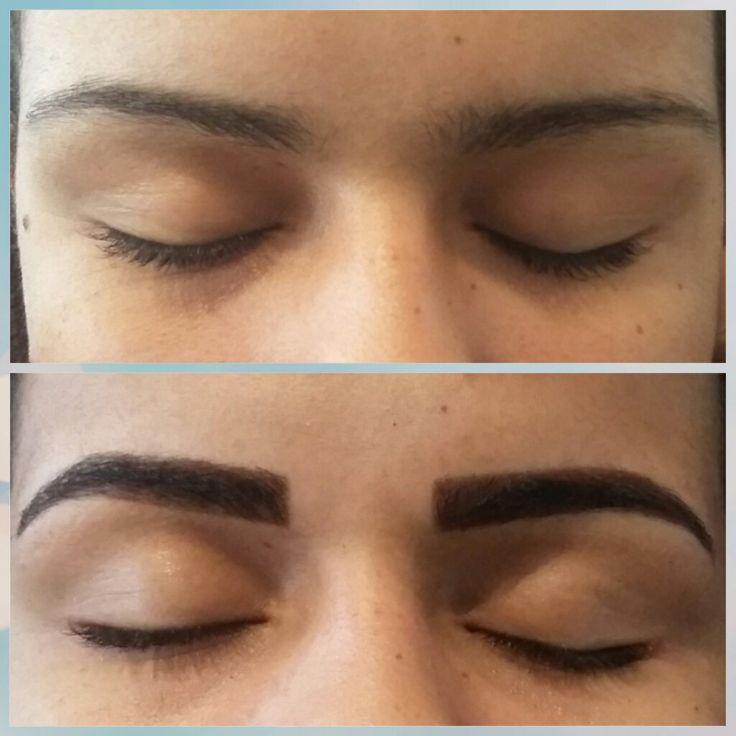 Design de sobrancelha com henna amazing eyebrow design. Love this.