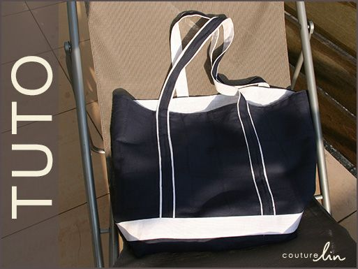 Niveau : facile Tutoriel pour confectionner un joli sac de plage. Bonne couture !