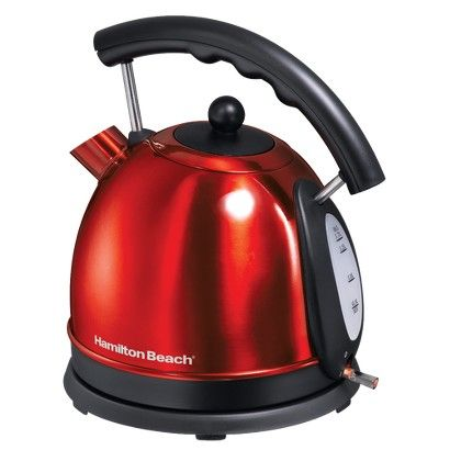 Hamilton Beach Stainless Steel Dome Style Kettle - Red- 40894