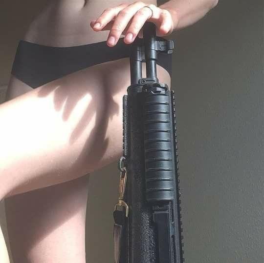 weapons, dark, black, guns, warrior, sniper, soldier, girl, woman, underwear, ae…