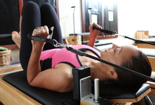 Slideshow: 15 Pilates Moves for Beginners [Body weight, Strength training, Fitness]