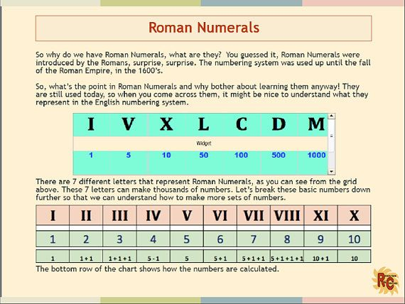 The 25+ best Roman numerals games ideas on Pinterest - roman numeral chart template