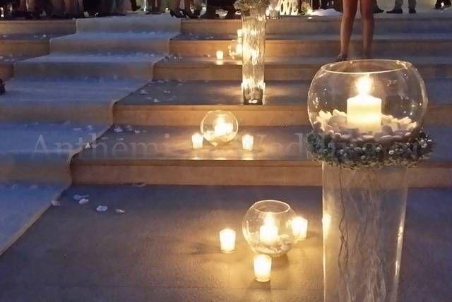 Αποτέλεσμα εικόνας για στολισμος τραπεζιων γαμου με κερια